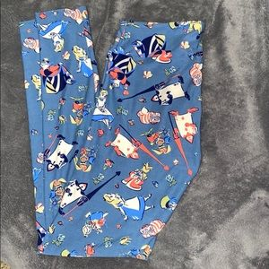 LulaRoe Alice n Wonderland leggings